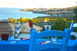 The Iconpainter's villas dinning terrace.